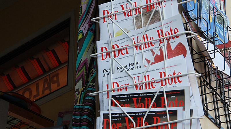 Der Valle-Bote im Zeitungsständer