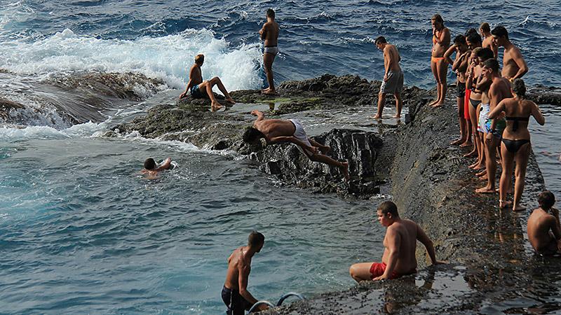 Meerwasserbad von Hermigua