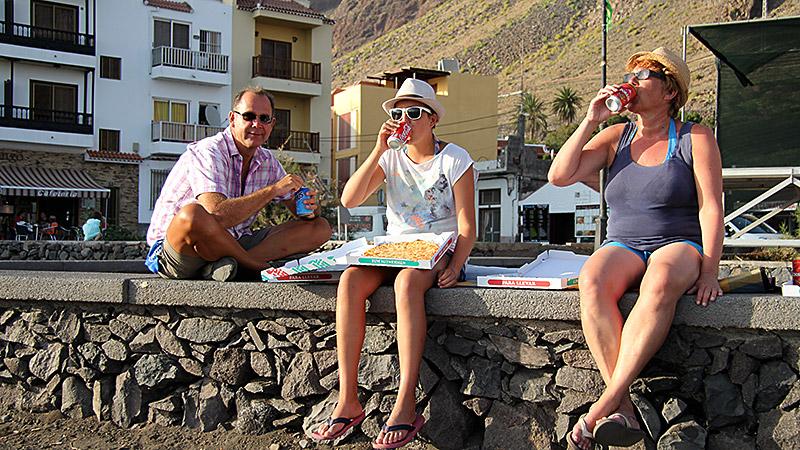 Cola-Picknick in La Playa de La Calera