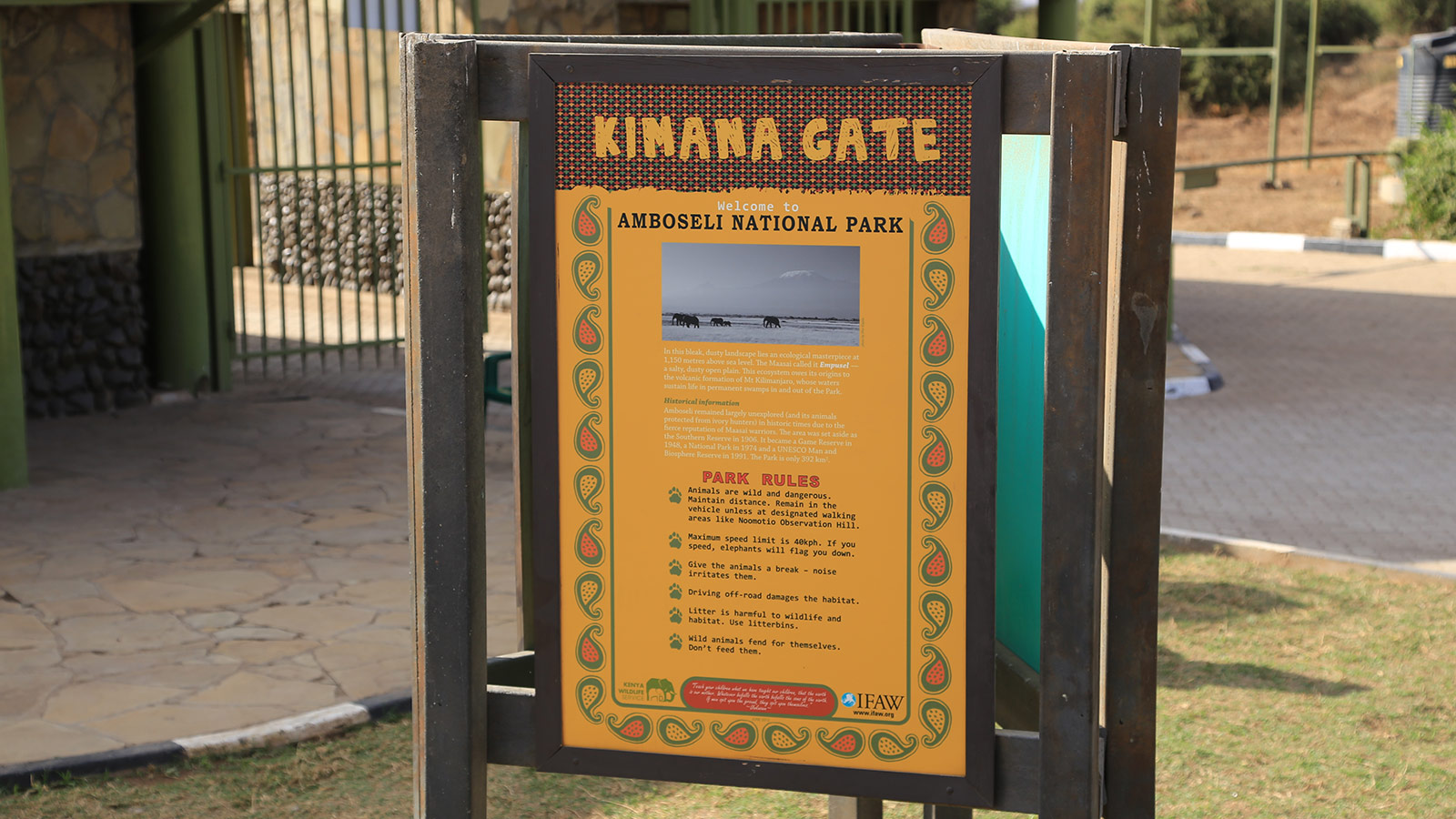 Eingang zum Amboseli Nationalpark, Kenia