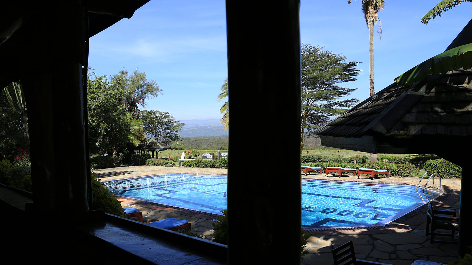 Swimming Pool in der Lake Nakuru Lodge