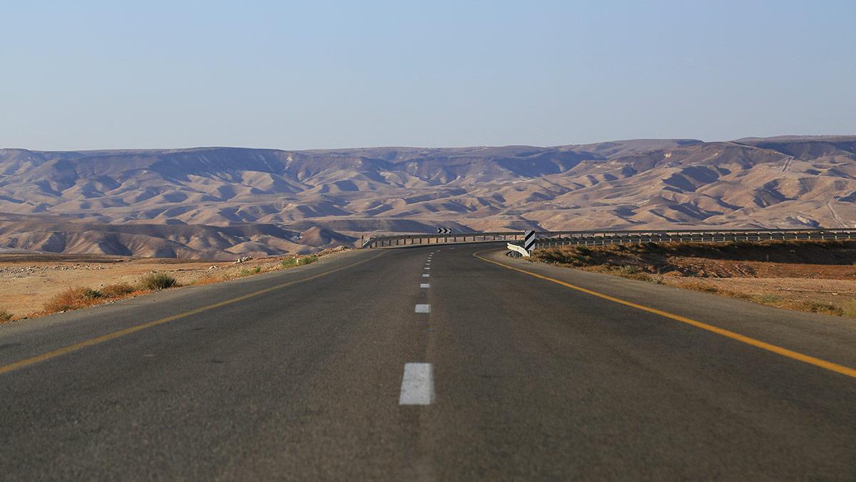 Landstraße durch die Negev