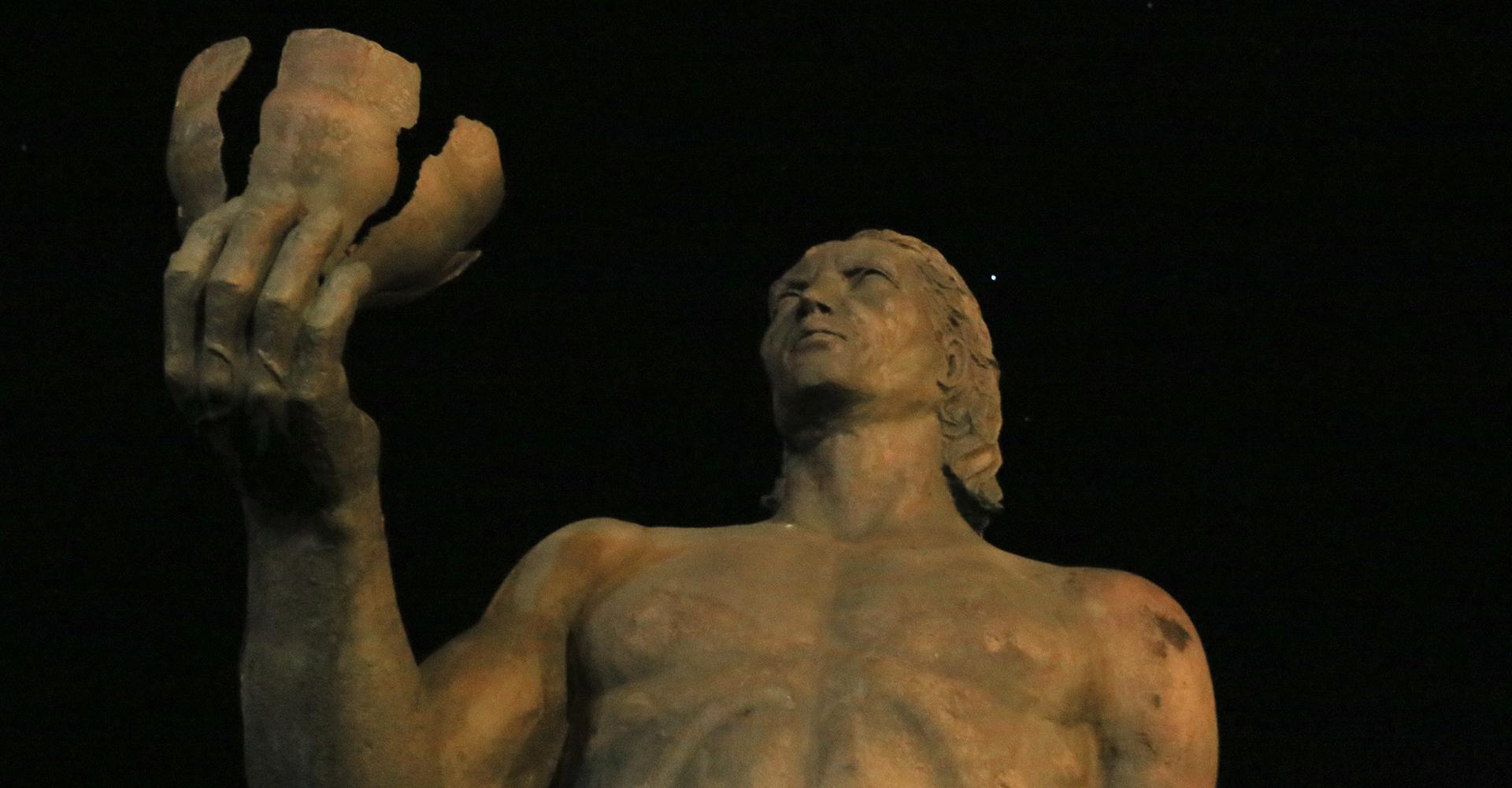 Statue des Guanchen-Rebellen Hautacuperche