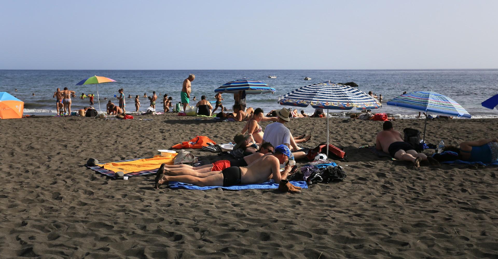 Ukulele am Strand