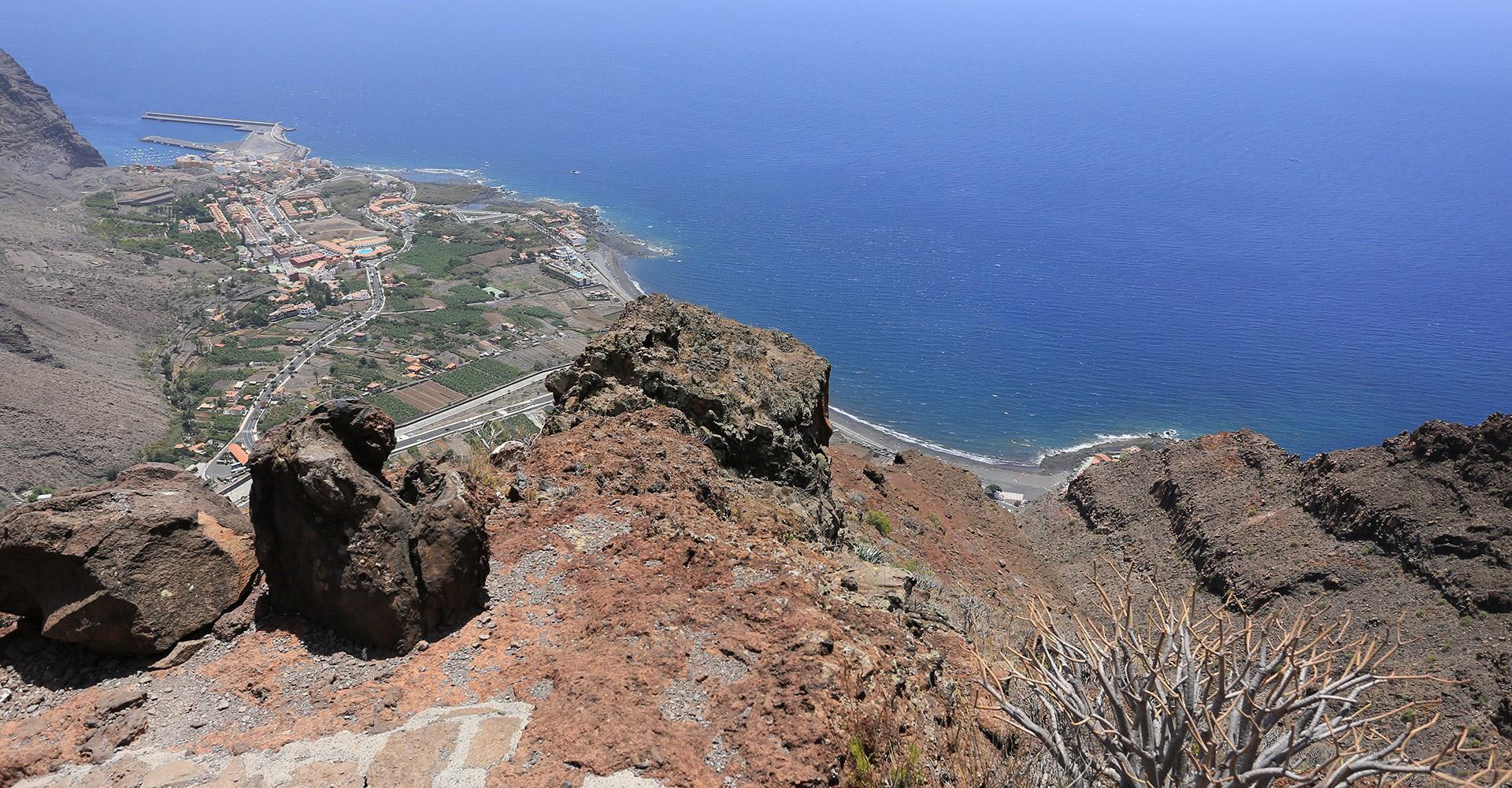 Blick auf den Hafen von Vueltas